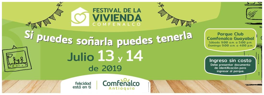 Festival de la Vivienda Comfenalco 13 y 14 de Julio